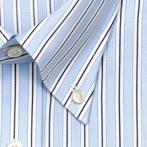 CHOYA SHIRT FACTORY・COOL CONSCIOUS・綿100%・形態安定加工・長袖・ダブルストライプ・ボタンダウンシャツ おしゃれ|choyashirts|03