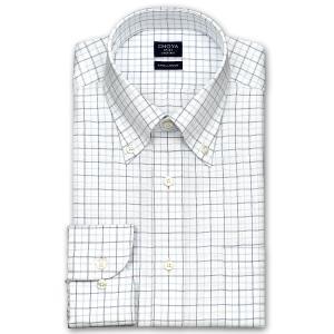 ワイシャツ Yシャツ メンズ 長袖 | CHOYA SHIRT FACTORY | COOL CONSCIOUS 綿100% 形態安定加工 ブルーとネイビーのチェック柄 ボタンダウンシャツ おしゃれ|choyashirts