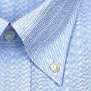 ワイシャツ Yシャツ メンズ 長袖 | CHOYA SHIRT FACTORY | 綿100% 形態安定加工 ヘリンボーンストライプ ボタンダウン おしゃれ|choyashirts|03