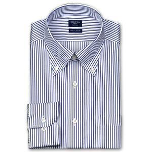 ワイシャツ Yシャツ メンズ 長袖 | CHOYA SHIRT FACTORY | 綿100% 形態安定加工 ロンドンストライプ ボタンダウン おしゃれ|choyashirts