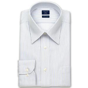 ワイシャツ Yシャツ メンズ 長袖   CHOYA SHIRT FACTORY   形態安定 オルタネイトストライプ レギュラーカラーシャツ おしゃれ choyashirts