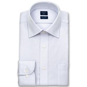 ワイシャツ Yシャツ メンズ 長袖 | CHOYA SHIRT FACTORY | 形態安定 グレードビーストライプ ワイドカラー|choyashirts