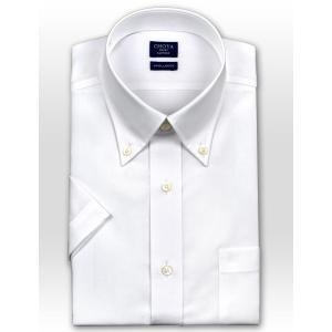 ワイシャツ Yシャツ メンズ 半袖 | CHOYA SHIRT FACTORY | 綿100% 形態安定加工 白ブロード ボタンダウン おしゃれ|choyashirts