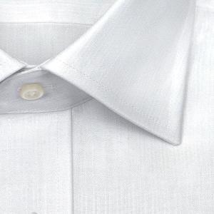 ワイシャツ Yシャツ メンズ 長袖 | SHIRT MAKER CHOYA | 綿100% 形態安定加工 白ドビーストライプ ワイドカラー おしゃれ|choyashirts|03