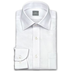 ワイシャツ Yシャツ メンズ 長袖 | SHIRT MAKER CHOYA | 綿100% 形態安定加工 白ドビーストライプ ワイドカラー おしゃれ|choyashirts