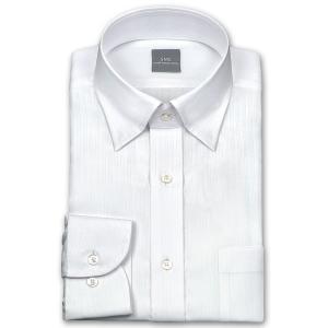 ワイシャツ Yシャツ メンズ 長袖 | SHIRT MAKER CHOYA | 綿100% 形態安定加工 白ドビーストライプ スナップダウン WEB限定|choyashirts