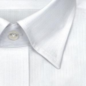ワイシャツ Yシャツ メンズ 長袖 | SHIRT MAKER CHOYA | 綿100% 形態安定加工 白ドビーストライプ スナップダウン WEB限定|choyashirts|03