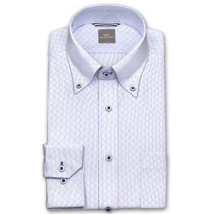 ワイシャツ Yシャツ メンズ 長袖   SHIRT MAKER CHOYA   形態安定 ややスリム ブルードビーチェック ボタンダウン ニットシャツ おしゃれ choyashirts