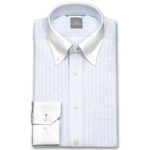 ワイシャツ Yシャツ メンズ 長袖 | SHIRT MAKER CHOYA | 形態安定 ややスリム ドビーストライプ ボタンダウン ニットシャツ おしゃれ|choyashirts