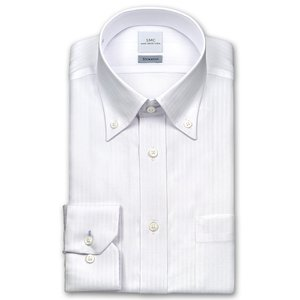 ワイシャツ Yシャツ メンズ 長袖 | SHIRT MAKER CHOYA | 形態安定 標準体 ドビーストライプ タンダウンシャツ おしゃれ|choyashirts