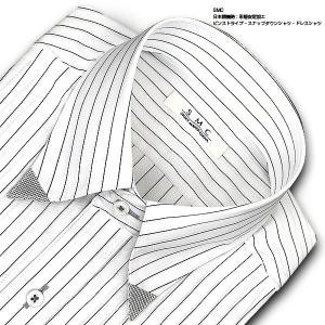 SHIRT MAKER CHOYA   ワイシャツ・長袖・ピンストライプ・スナップダウン・形態安定加工 おしゃれ choyashirts