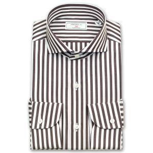 ワイシャツ Yシャツ メンズ 長袖 | CHOYA 1886 | ブラウンロンドンストライプ カッタウエイシャツ|choyashirts