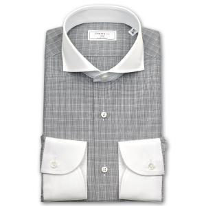 ワイシャツ Yシャツ メンズ 長袖 | CHOYA 1886 | グレンチェック カッタウエイ クレリックシャツ|choyashirts