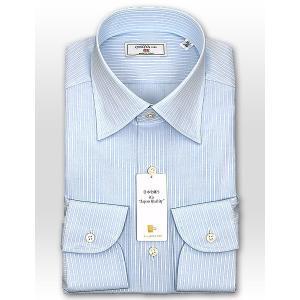 ワイシャツ Yシャツ メンズ 長袖 | CHOYA 1886 | 日本製 綿100% ペンシルストライプ ワイドカラーシャツ おしゃれ|choyashirts