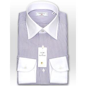 ワイシャツ Yシャツ メンズ 長袖 | CHOYA 1886 | 日本製 綿100% ストライプ ワイドカラー クレリックシャツ おしゃれ|choyashirts