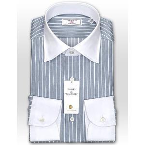 ワイシャツ Yシャツ メンズ 長袖 | CHOYA 1886 | 日本製 綿100% ペンシルストライプ クレリックシャツ おしゃれ|choyashirts