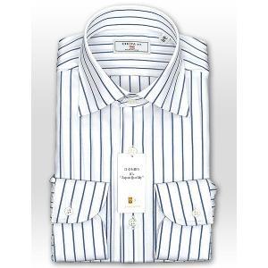 ワイシャツ Yシャツ メンズ 長袖 | CHOYA 1886 | 日本製 綿100% ブルーストライプ ワイドカラーシャツ おしゃれ|choyashirts