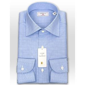 ワイシャツ Yシャツ メンズ 長袖 | CHOYA 1886 | 日本製 綿100% グレンチェック ワイドカラー ドレスシャツ おしゃれ|choyashirts