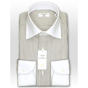 ワイシャツ Yシャツ メンズ 長袖 | CHOYA 1886 | 日本製 綿100% ロンドンストライプ ワイドカラー クレリック おしゃれ|choyashirts