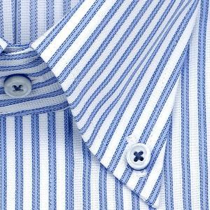 ワイシャツ Yシャツ メンズ 長袖   ELLE HOMME   形態安定 涼感素材 ゆったり ブルーストライプ ボタンダウンシャツ おしゃれ choyashirts 03