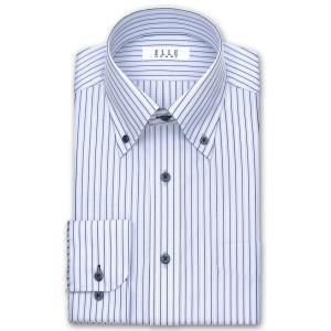 ELLE HOMME・形態安定加工・涼感素材・長袖・ネイビーストライプ・ボタンダウンシャツ おしゃれ 父の日 プレゼント ギフト 父親 お父さん|choyashirts