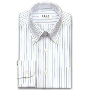 ワイシャツ Yシャツ メンズ 長袖 | ELLE HOMME | 形態安定 涼感素材 オルタネイトストライプ ボタンダウンシャツ おしゃれ|choyashirts