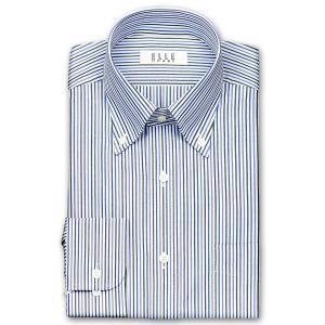 ワイシャツ Yシャツ メンズ 長袖 | ELLE HOMME | 形態安定 涼感素材 マルチストライプ ボタンダウンシャツ おしゃれ 父の日 プレゼント ギフト 父親 お父さん|choyashirts