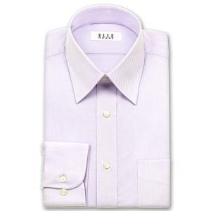 ワイシャツ Yシャツ メンズ 長袖 | ELLE HOMME | 形態安定 パープルのバイアスドビー レギュラーカラーシャツ おしゃれ 父の日 プレゼント ギフト 父親 お父さん|choyashirts