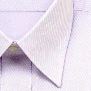 ワイシャツ Yシャツ メンズ 長袖 | ELLE HOMME | 形態安定 パープルのバイアスドビー レギュラーカラーシャツ おしゃれ 父の日 プレゼント ギフト 父親 お父さん|choyashirts|03