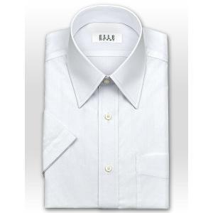 ワイシャツ Yシャツ メンズ 半袖 | ELLE HOMME | 形態安定 綿ポリエステル 涼感素材 ゆったり 半袖 白ブロード レギュラーカラーシャツ おしゃれ|choyashirts