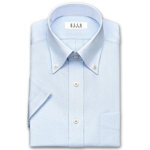 ワイシャツ Yシャツ メンズ 半袖 | ELLE HOMME | 形態安定 ブルードビー ボタンダウンシャツ おしゃれ 父の日 プレゼント ギフト 父親 お父さん|choyashirts