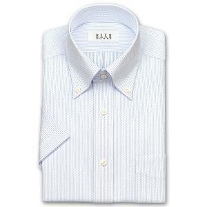 ワイシャツ Yシャツ メンズ 半袖 | ELLE HOMME | 形態安定 ブルー ピンストライプ ボタンダウンシャツ おしゃれ|choyashirts