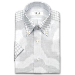 ワイシャツ Yシャツ メンズ 半袖 | ELLE HOMME | 形態安定 グラフチェック ボタンダウンシャツ おしゃれ|choyashirts