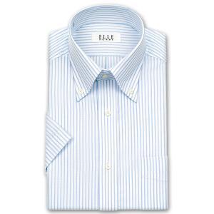 ワイシャツ Yシャツ メンズ 半袖 | ELLE HOMME | 形態安定加工 ロンドンストライプ ボタンダウン|choyashirts