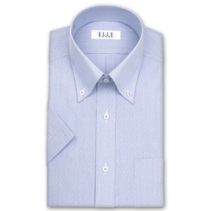 ワイシャツ Yシャツ メンズ 半袖 | ELLE HOMME | 形態安定 ブルーストライプ ボタンダウンシャツ おしゃれ|choyashirts