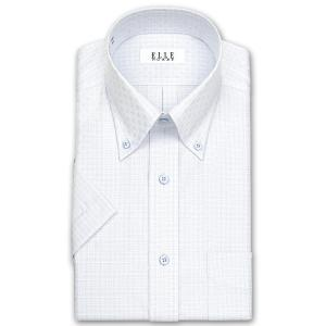 ワイシャツ Yシャツ メンズ 半袖 | ELLE HOMME | 形態安定加工 ブルードビー ボタンダウンシャツ おしゃれ|choyashirts