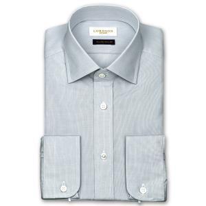 ワイシャツ Yシャツ メンズ 長袖 | LORDSON Crest | 綿100% 形態安定加工 スリム マイクロチェック ワイドカラー おしゃれ|choyashirts