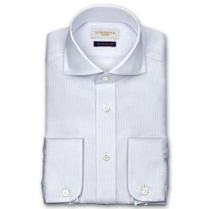 ワイシャツ Yシャツ メンズ 長袖 | LORDSON Crest | 綿100% 形態安定加工 スリム マイクロチェックドビー柄 ワイドカラー(カッタウェイ) おしゃれ|choyashirts