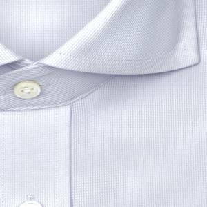 ワイシャツ Yシャツ メンズ 長袖 | LORDSON Crest | 綿100% 形態安定加工 スリム マイクロチェックドビー柄 ワイドカラー(カッタウェイ) おしゃれ|choyashirts|03