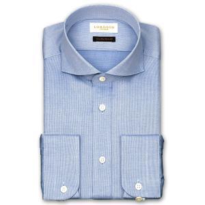 ワイシャツ Yシャツ メンズ 長袖 | LORDSON Crest | 綿100% 形態安定加工 スリム ヘアラインストライプ ワイドカラー(カッタウェイ) おしゃれ|choyashirts