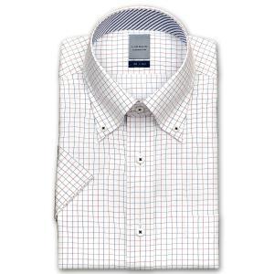 ワイシャツ Yシャツ メンズ 半袖 | LORDSON | 形態安定加工 タッタソールチェック ボタンダウン|choyashirts