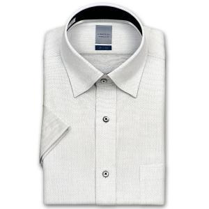 ワイシャツ Yシャツ メンズ 半袖   LORDSON   形態安定加工 白千鳥ドビー ボタンダウン choyashirts