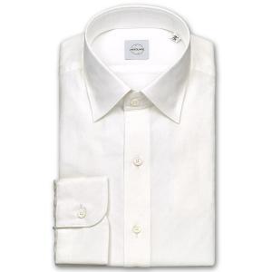 ワイシャツ カジュアルシャツ メンズ 長袖 | UNSQUARE | 綿100% 標準体 オフホワイトドビー ワイドカラー おしゃれ|choyashirts