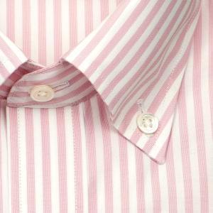 ワイシャツ カジュアルシャツ メンズ 長袖 | UNSQUARE | 綿100% 標準体 ピンク ロンドンストライプ ボタンダウン おしゃれ|choyashirts|03