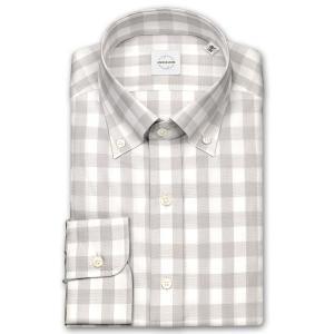ワイシャツ カジュアルシャツ メンズ 長袖 | UNSQUARE | 綿100% 標準体 ブロックチェック ボタンダウン おしゃれ|choyashirts