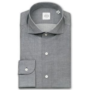 ワイシャツ カジュアルシャツ メンズ 長袖 | UNSQUARE | 綿100% 標準体 グレーシャンブレー  カッタウエイシャツ おしゃれ|choyashirts
