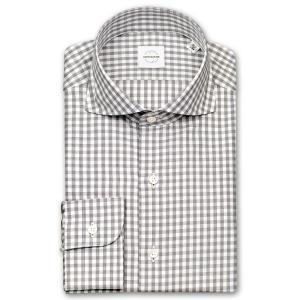 ワイシャツ カジュアルシャツ メンズ 長袖 | UNSQUARE | 綿100% 標準体 ギンガムチェック カッタウェイシャツ おしゃれ|choyashirts