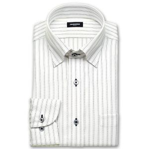 ワイシャツ Yシャツ メンズ 長袖 | renoma PARIS | 綿100% 形態安定加工 ブラックとパープルの刺し子調ストライプ スナップダウン おしゃれ|choyashirts