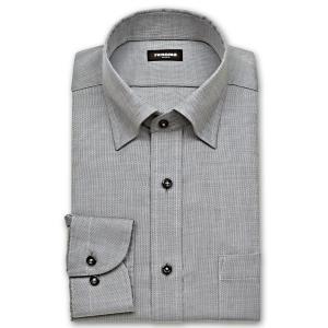 ワイシャツ Yシャツ メンズ 長袖 | renoma PARIS | 綿100% 形態安定加工 チャコールグレー ドビー スナップダウン おしゃれ|choyashirts