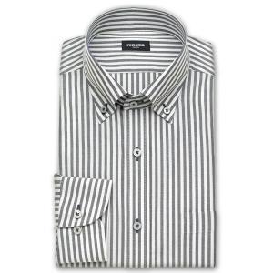 ワイシャツ Yシャツ メンズ 長袖 | renoma PARIS | 綿100% 形態安定加工 ブラックのロンドンストライプ ボタンダウン おしゃれ(190517-20)|choyashirts